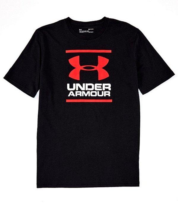 アンダーアーマー メンズ シャツ トップス HeatGearR Charged CottonRLoose Short-Sleeve GL Foundation Training Screen Print T-Shirt Black/White/Red