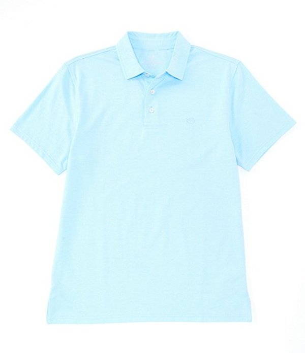 サウザーンタイド メンズ シャツ トップス Pecan Grove Jacquared Short-Sleeve Polo Shirt Ocean Channel