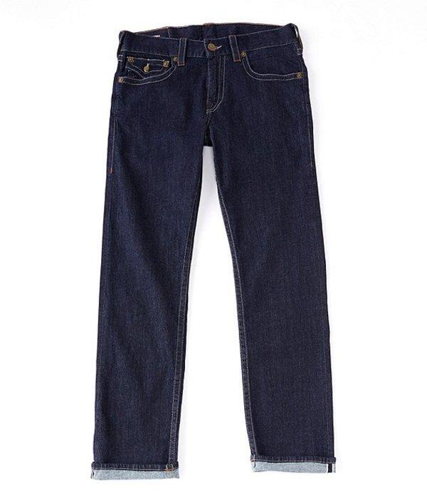 トゥルーレリジョン メンズ デニムパンツ ボトムス Geno Slim Straight Body Rinse Selvedge Jeans Body Rinse
