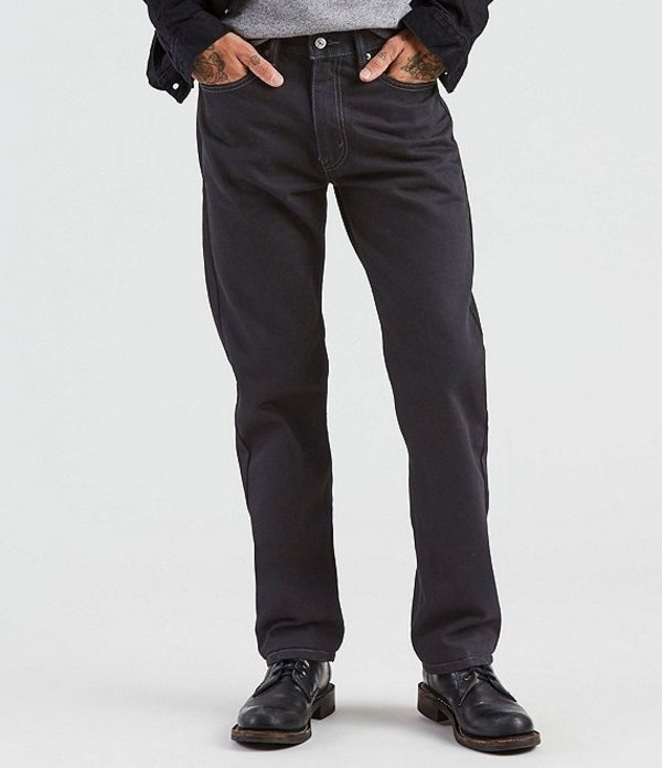 リーバイス メンズ デニムパンツ ボトムス Levi'sR 505 Regular Fit Rigid Jeans Charcoal