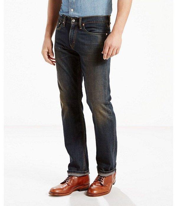 リーバイス メンズ デニムパンツ ボトムス Levi'sR 505 Regular Fit Rigid Jeans Graphite
