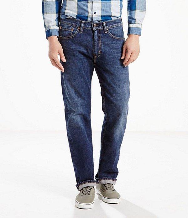 リーバイス メンズ デニムパンツ ボトムス Levi'sR 505 Regular Fit Rigid Jeans Hawker