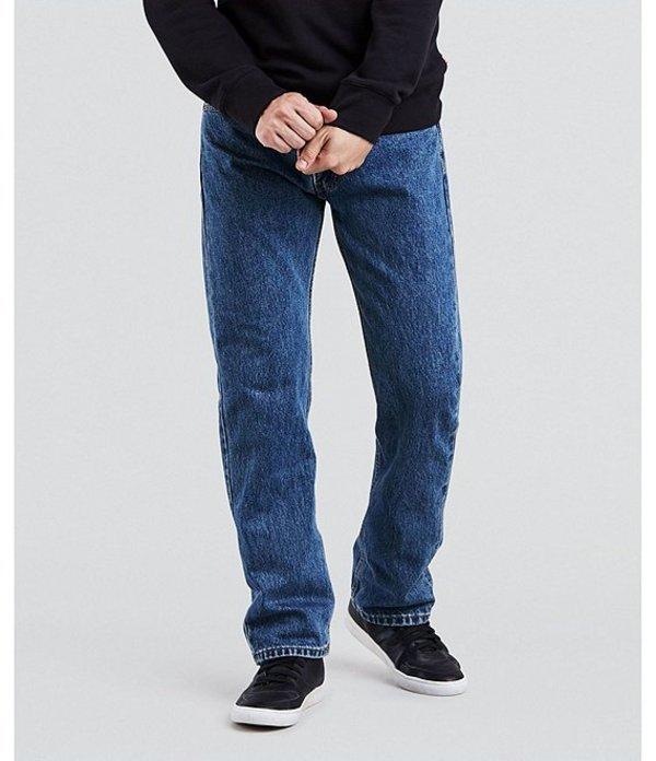 リーバイス メンズ デニムパンツ ボトムス Levi'sR 505 Regular Fit Rigid Jeans Medium Stonewash