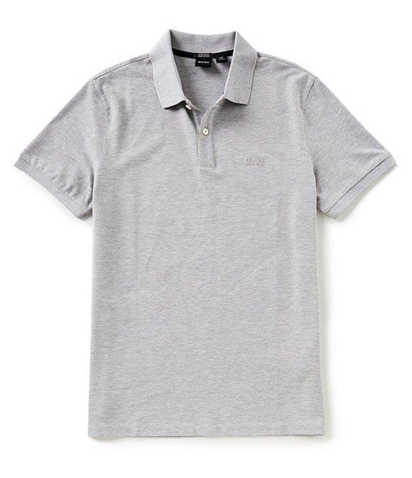 ヒューゴボス メンズ シャツ トップス BOSS Pallas Pique Short-Sleeve Polo Shirt Grey