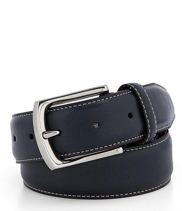 ダニエル クレミュ メンズ カジュアルパンツ ボトムス Contrast Stitch Leather Belt Navy