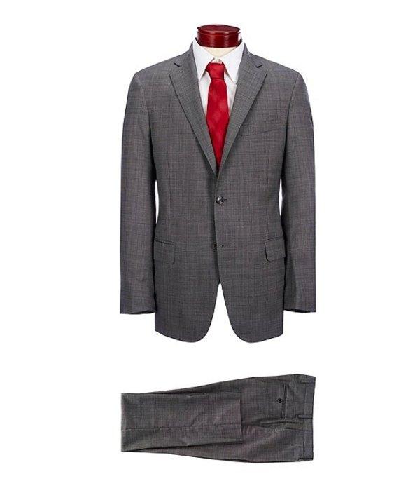 ハート シャフナー マルクス メンズ ジャケット・ブルゾン アウター Modern Fit Flat Front Fancy Wool Suit Grey