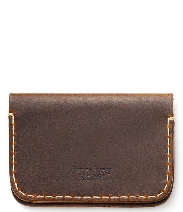 ジェームズ エイヴリー メンズ 財布 アクセサリー Fold Over Leather Wallet Brown