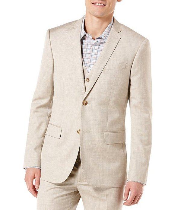 ペリーエリス メンズ ジャケット・ブルゾン アウター Big & Tall Herringbone Sportcoat Natural Linen