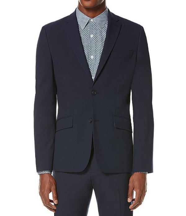 ペリーエリス メンズ ジャケット・ブルゾン アウター Slim-Fit Washable Tech Suit Separates Jacket Navy