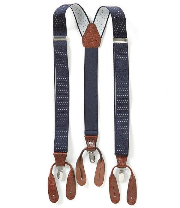 ラウンドトゥリーアンドヨーク メンズ ベルト アクセサリー Big & Tall Dotted Suspenders Navy