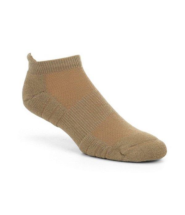 ラウンドトゥリーアンドヨーク メンズ 靴下 アンダーウェア Gold Label Roundtree & Yorke Half-Cushion Performance Tab No-Show Socks 2-Pack Khaki