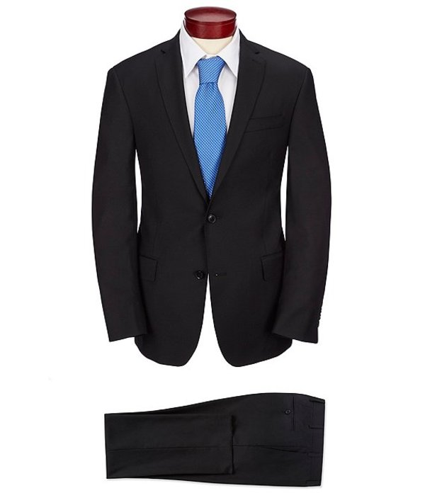 ムラノ メンズ ジャケット・ブルゾン アウター Slim Fit Solid Suit Black