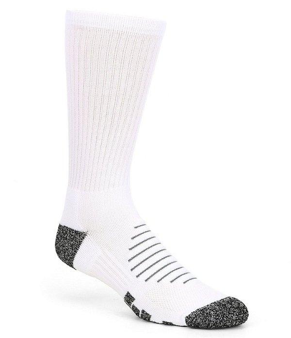 ラウンドトゥリーアンドヨーク メンズ 靴下 アンダーウェア Gold Label Roundtree & Yorke Athletic Crew Socks 2-Pack White