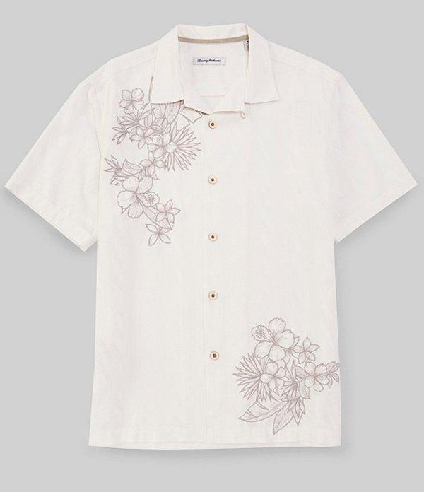 トッミーバハマ メンズ シャツ トップス Vinenco Vines Short-Sleeve Woven Camp Shirt Continental