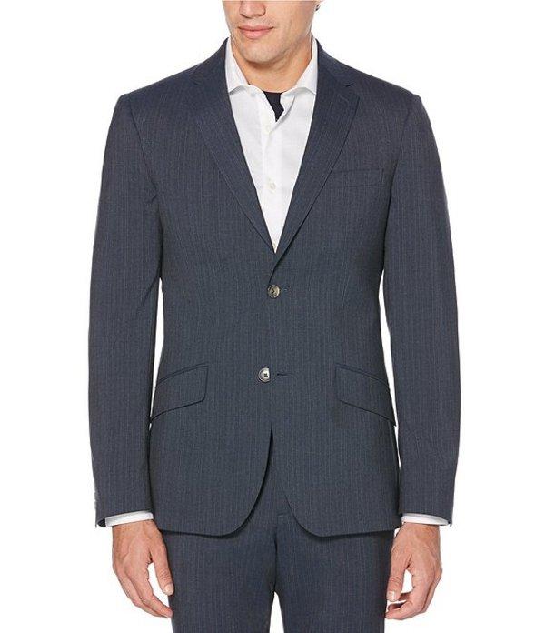 ペリーエリス メンズ ジャケット・ブルゾン アウター Big & Tall Slim-Fit Stripe Stretch Wrinkle Resistant Washable Suit Separates Jacket Slate
