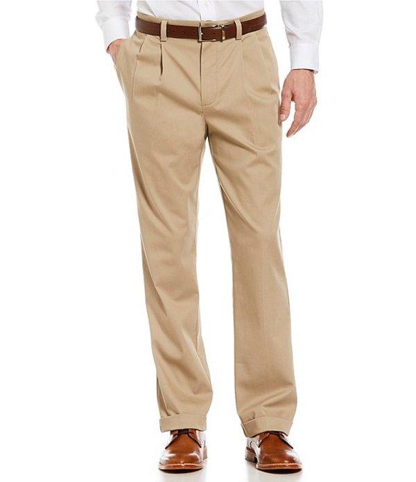 ラウンドトゥリーアンドヨーク メンズ カジュアルパンツ ボトムス TotalFLEX Classic Fit Pleated CoreComfort Waistband Easy Care Pants Khaki