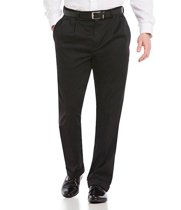 ラウンドトゥリーアンドヨーク メンズ カジュアルパンツ ボトムス Big & Tall TotalFLEX Classic Fit Pleated CoreComfort Waistband Easy Care Pants Black