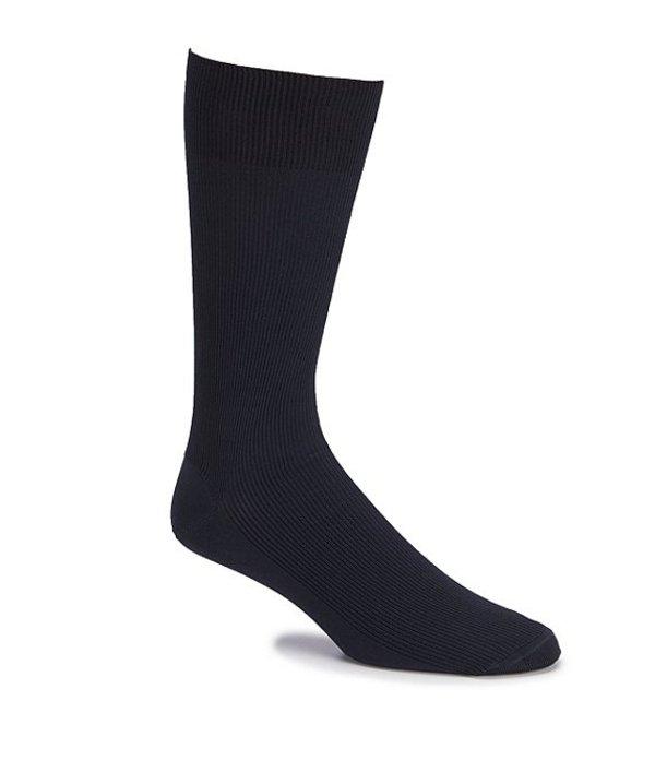 ラウンドトゥリーアンドヨーク メンズ 靴下 アンダーウェア Gold Label Roundtree & Yorke Big & Tall Rib Crew Socks 3-Pack Navy