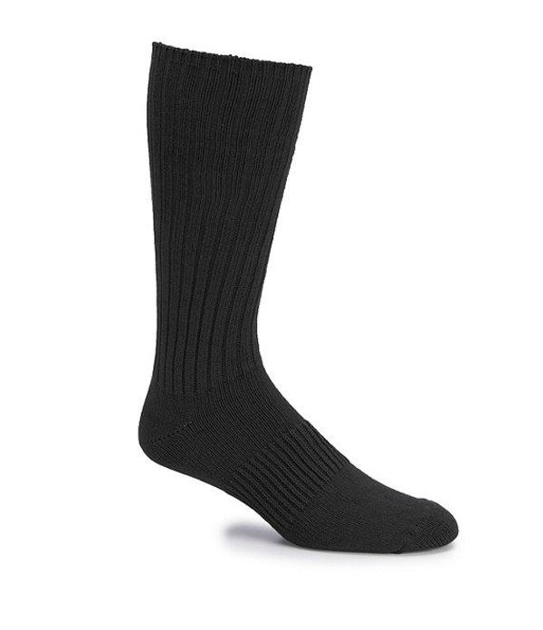 ラウンドトゥリーアンドヨーク メンズ 靴下 アンダーウェア Gold Label Roundtree & Yorke Big & Tall Casual Crew Socks 3-Pack Black