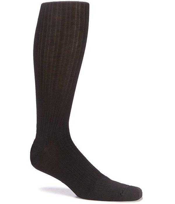 ラウンドトゥリーアンドヨーク メンズ 靴下 アンダーウェア Big & Tall Solid Over-the-Calf Socks 3-Pack Black