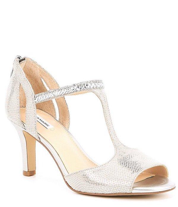 シューズ サンダル Chalk/Silver Sandals Rhinestone アレックスマリー T-Strap Dress レディース MelroyTwo