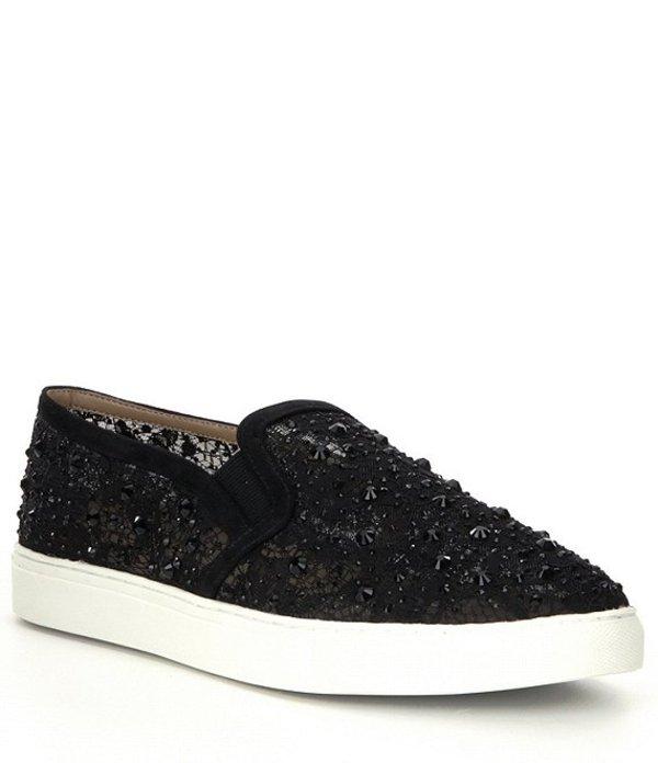 Lace アントニオ Slip-On Sneakers シューズ Rhinestone Embellished Black メラーニ レディース Garner スリッポン・ローファー