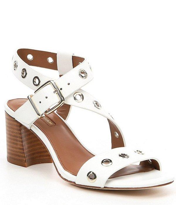 アントニオ メラーニ レディース サンダル シューズ Oleana Leather Block Heel Sandals White