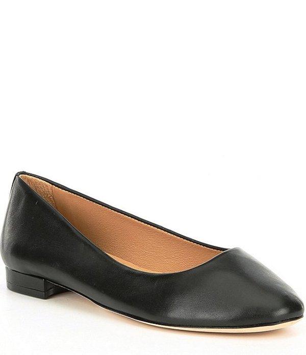 アントニオ メラーニ レディース パンプス シューズ Vintal Leather Casual Flats Black Leather