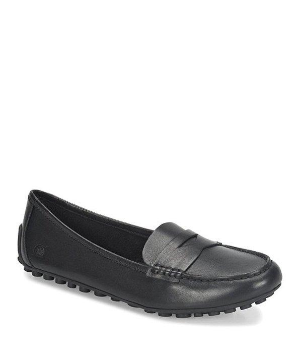 ボーン レディース スリッポン・ローファー シューズ Malena Leather Dress Penny Loafers Black