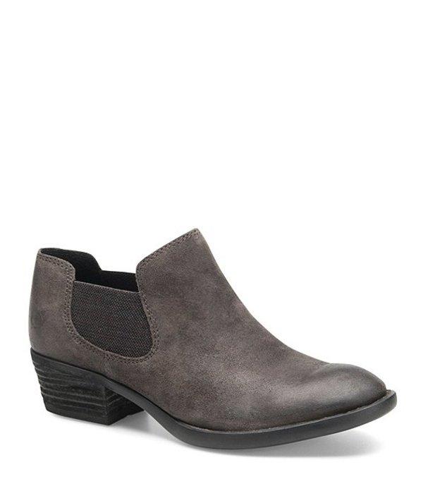 ボーン レディース ブーツ・レインブーツ シューズ Dallia Chelsea Leather Block Heel Shooties Dark Grey