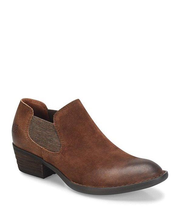 ボーン レディース ブーツ・レインブーツ シューズ Dallia Chelsea Leather Block Heel Shooties Rust