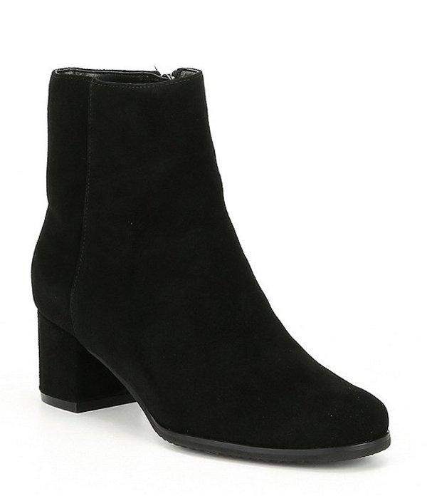 ブロンド レディース ブーツ・レインブーツ シューズ Alida Waterproof Suede Block Heel Booties Black