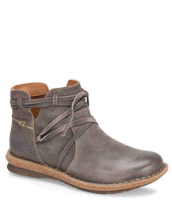 ボーン レディース ブーツ・レインブーツ シューズ Tarkiln Distressed Leather Booties Grey