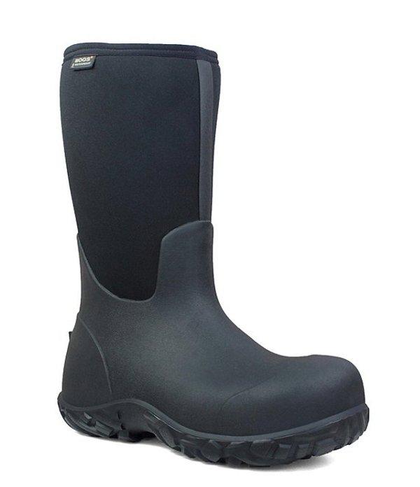 ボグス メンズ ブーツ・レインブーツ シューズ Men's Workman Waterproof Composite Toe Work Boot Black
