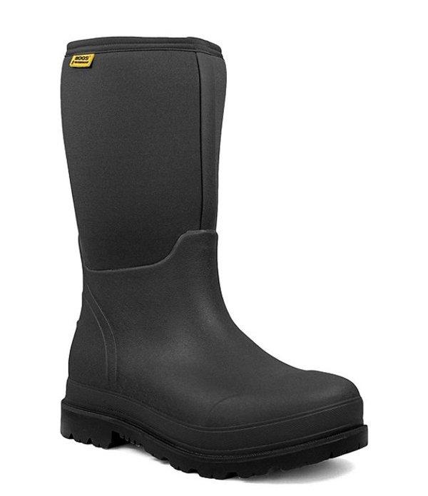 ボグス メンズ ブーツ・レインブーツ シューズ Men's Stockman Waterproof Composite Toe Work Boot Black