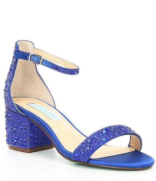 ベッツィジョンソン レディース サンダル シューズ Blue by Betsey Johnson Mari Block Heel Dress Sandals Bright Blue