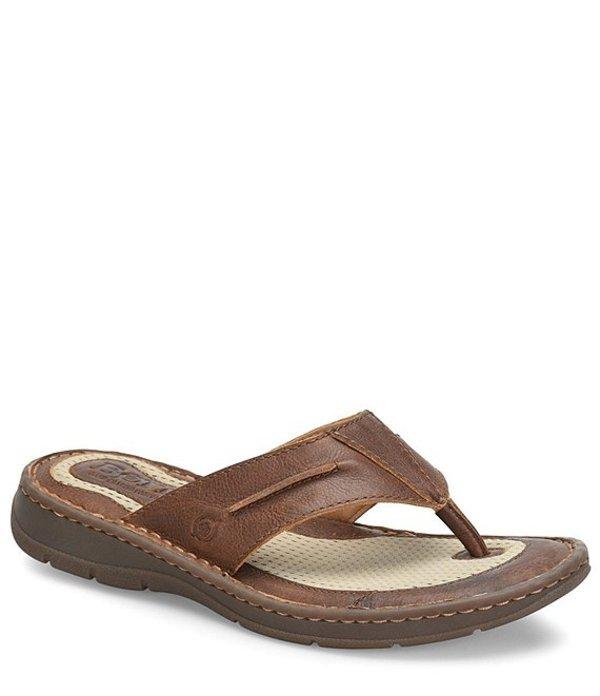 ボーン メンズ サンダル シューズ Men's Whitman Leather Thong Sandal Tan