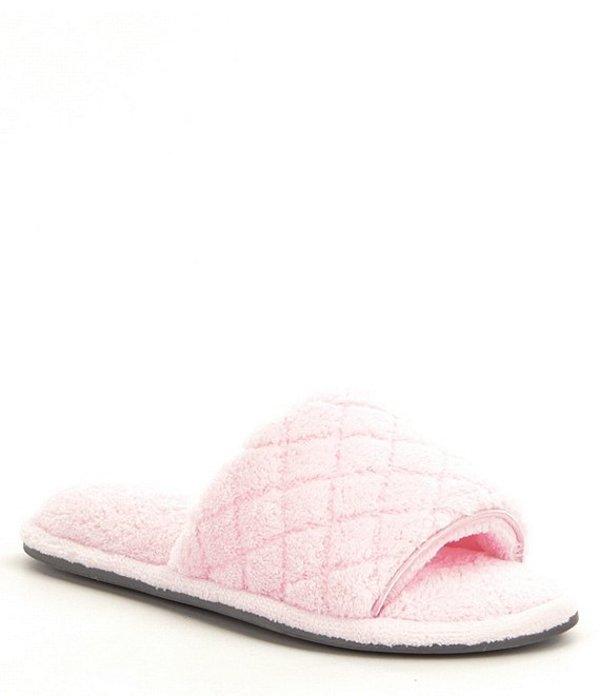 カベルネ レディース サンダル シューズ Quilted Microfiber Terry Slippers Fresh Pink