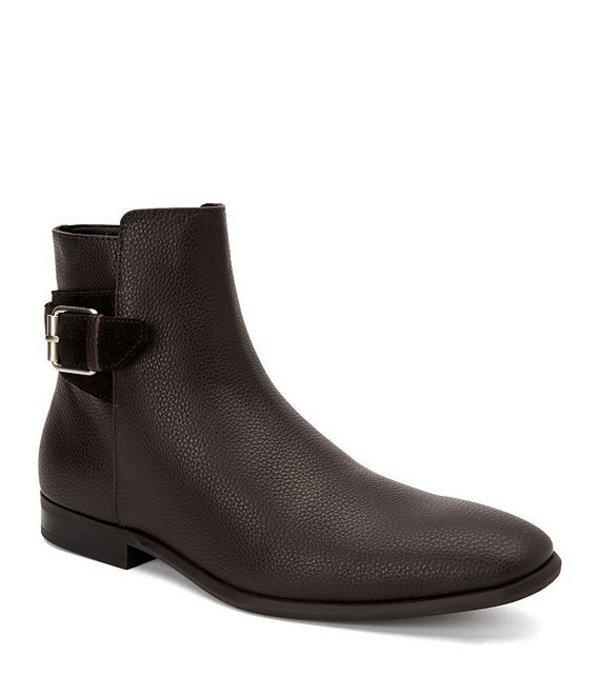 カルバンクライン メンズ ブーツ・レインブーツ シューズ Men's Lorenzo Dress Boots Dark Brown