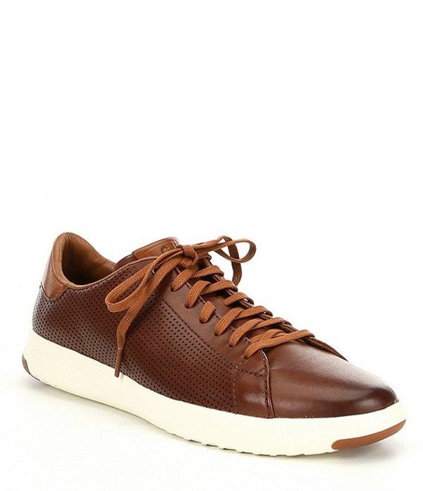コールハーン メンズ スニーカー シューズ Men's Grandpro Leather Tennis Sneaker Woodbury