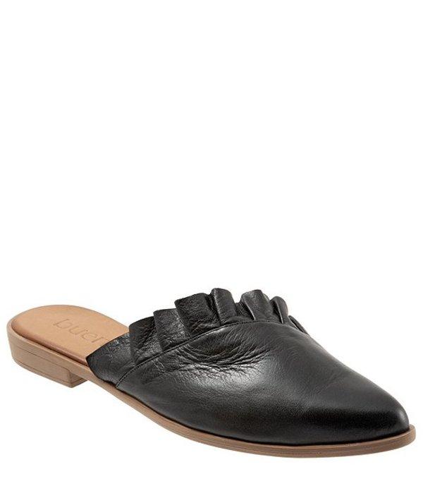 ブエノ レディース サンダル シューズ Bess Ruffled Leather Mules Black