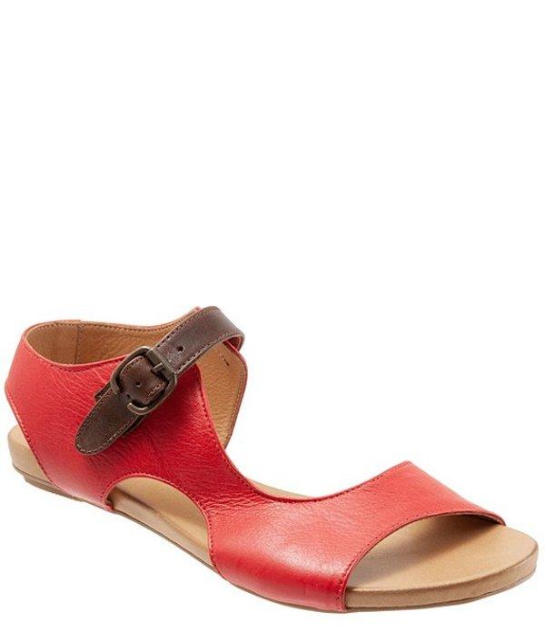ブエノ レディース サンダル シューズ Kina Leather Sandals Red