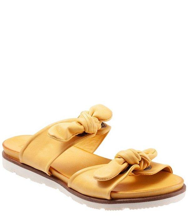 ブエノ レディース サンダル シューズ Yasi Leather Bow Slide Sandals Yellow