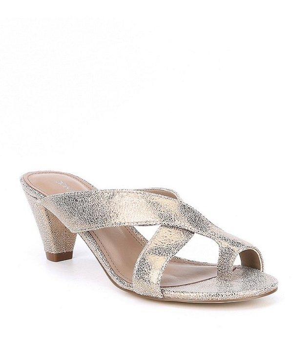 ドナルドプリネール レディース サンダル シューズ Vilo Metallic Leather Dress Sandals Light Bronze