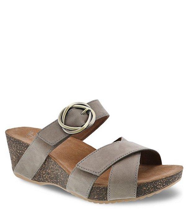 ダンスコ レディース サンダル シューズ Susie Leather Slide Sandals Taupe Milled Nubuck