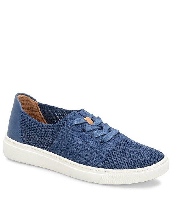 コンフォーティバ レディース スニーカー シューズ Trista Knit Mesh Lace Up Sneaker Blue