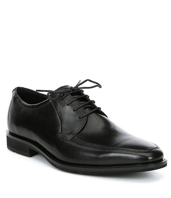 エコー メンズ ドレスシューズ シューズ Men's Calcan Apron Toe Leather Oxford Black