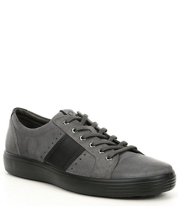 エコー メンズ スニーカー シューズ Men's Soft 7 Leather Summer Sneaker Magnet/Black