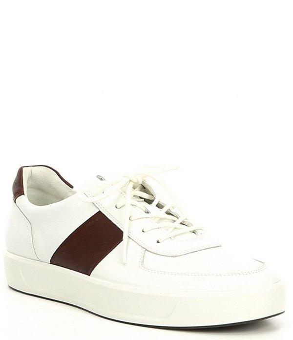 エコー メンズ スニーカー シューズ Men's Soft 8 Classic Sneaker White/Rust
