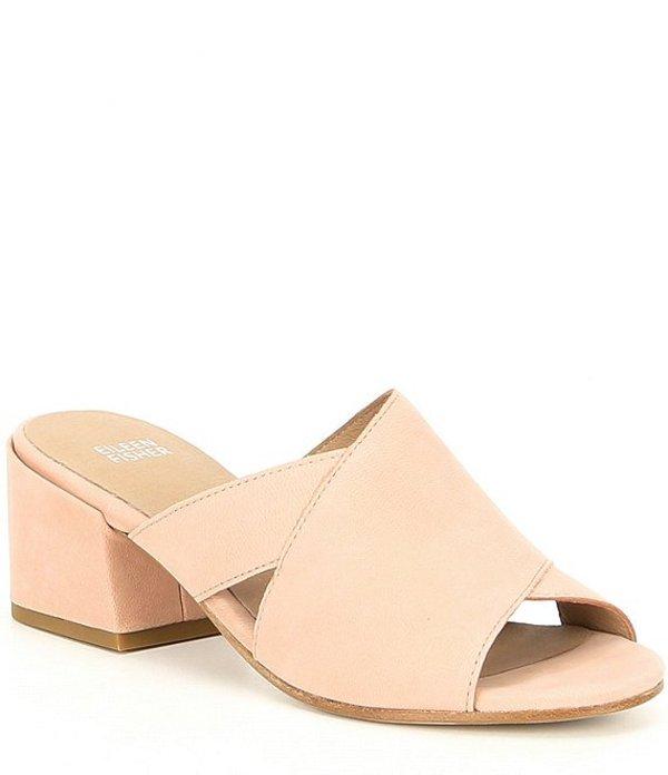 エイリーンフィッシャー レディース サンダル シューズ Haven Leather Block Heel Sandals Blush